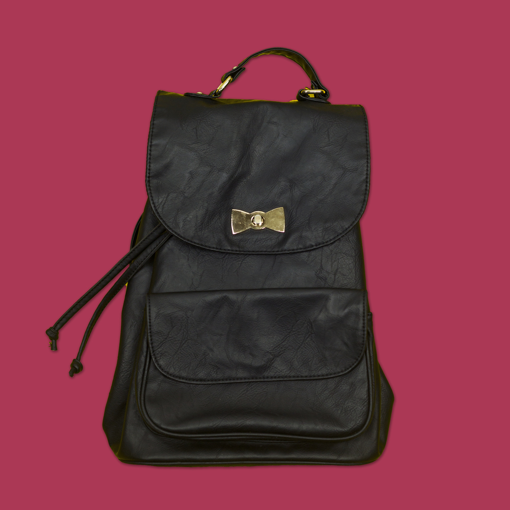 Black & Gold Backpack  - Spinns Japan