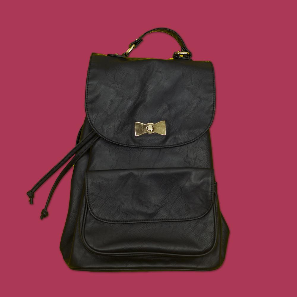 Black & Gold Backpack - Spinns Japan