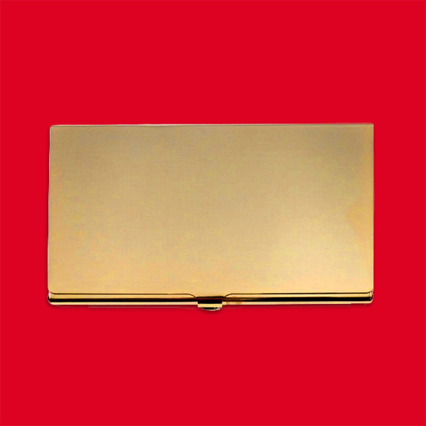 Golden Card Holder  - Triangle Hackney    Similar one on Ebay     £10.95