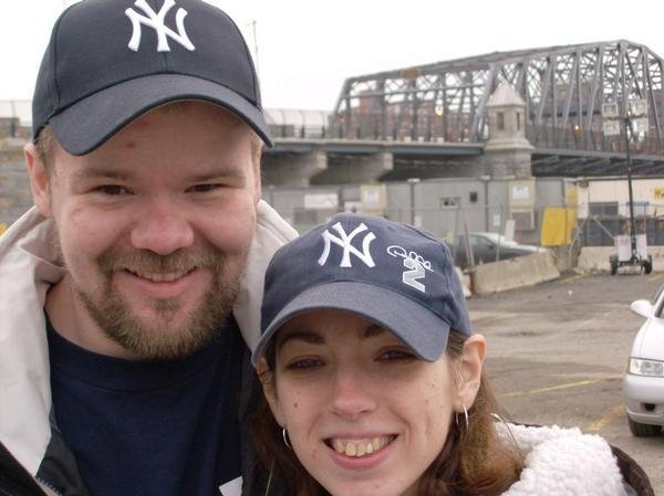 Rich and I at one of the many Yankee games we've attended over the years... That day we played wiffle ball in the parking lot with my brother and his girlfriend (now wife).