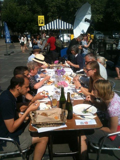 TheSlow Food Edinburgh pop-up brunchin full swing on Castle Terrace in 2014!