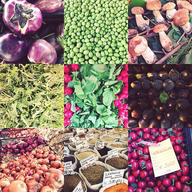 Here's a #farmersmarket day flashback to the bounty of colour, texture & of course #taste in the creative displays of #seasonal produce we found at #portopalazzo market in #turin last week 👍🏻#biodiversity #italianmarket #localfood #vegetarian #pulses #creativefood #creativedisplay #vegetableart #eatrealfood #goodcleanfair #slowfood #torino #piedmont