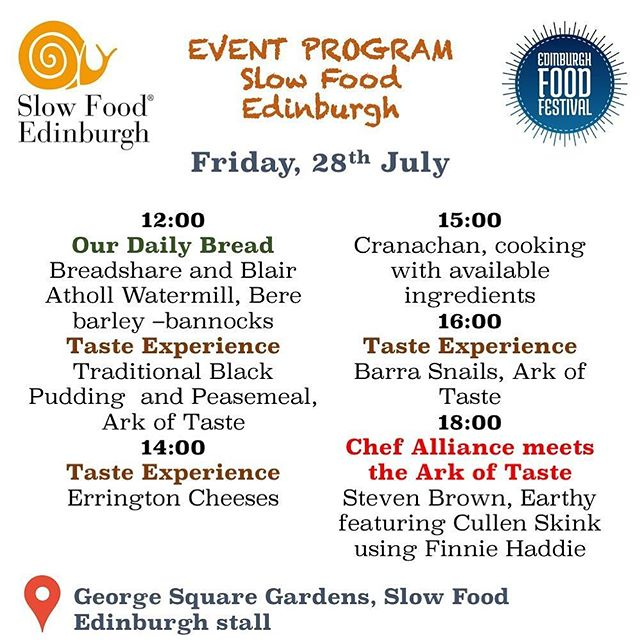 Day #3 @edfoodfest from 12pm #goodcleanfair #slowfood #arkoftaste #chefalliance @pop_edinburgh serving delicious food at 6pm #edinburgh #foodfestival #eatlocally #scotland
