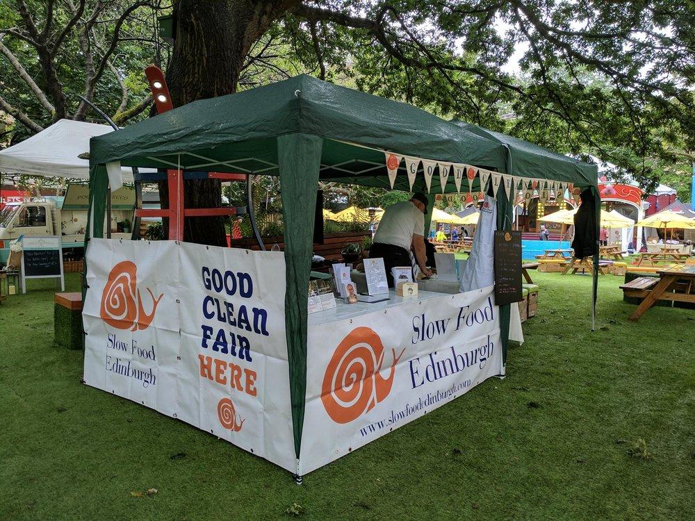 Slow Food Edinburgh at Edinburgh Food Festival -