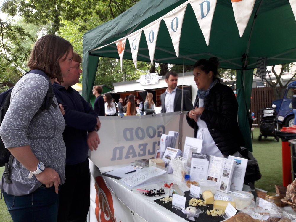 Our volunteer spreading Slow Food message  -