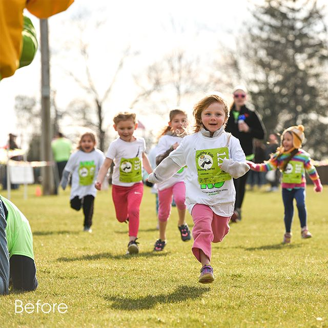 This weeks before and after eliminates the distractions so it's easier to focus on the action! @healthykidsrs #kidsphotos #kidsphotosession #kidsrunningwild #kidsrunning #lancasterphotographer #photographyismylife #photographyismypassion #healthykidsrunningseries #newmanstown #getupandgo #itsrunningtime #toddlerphotos #kidsofinsta