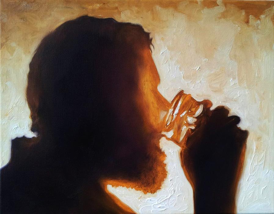 Matt Drinking