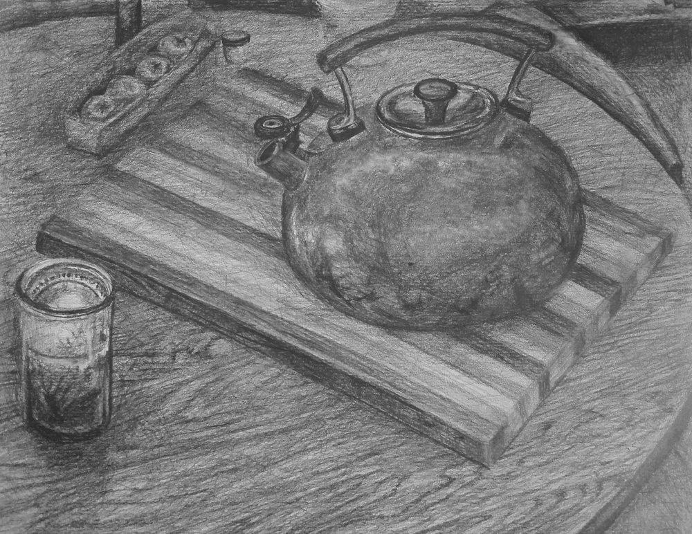 Teapot at Night
