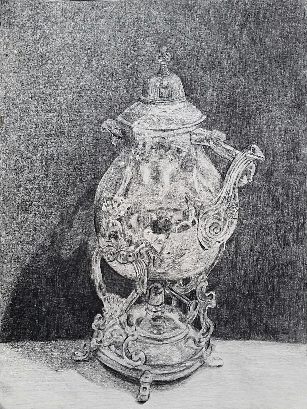 Self Portrait in Pfister Teapot