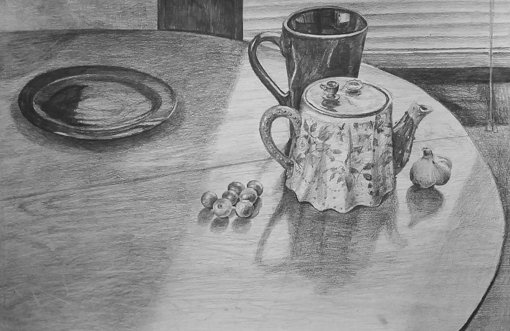 Teapot and Cranberries