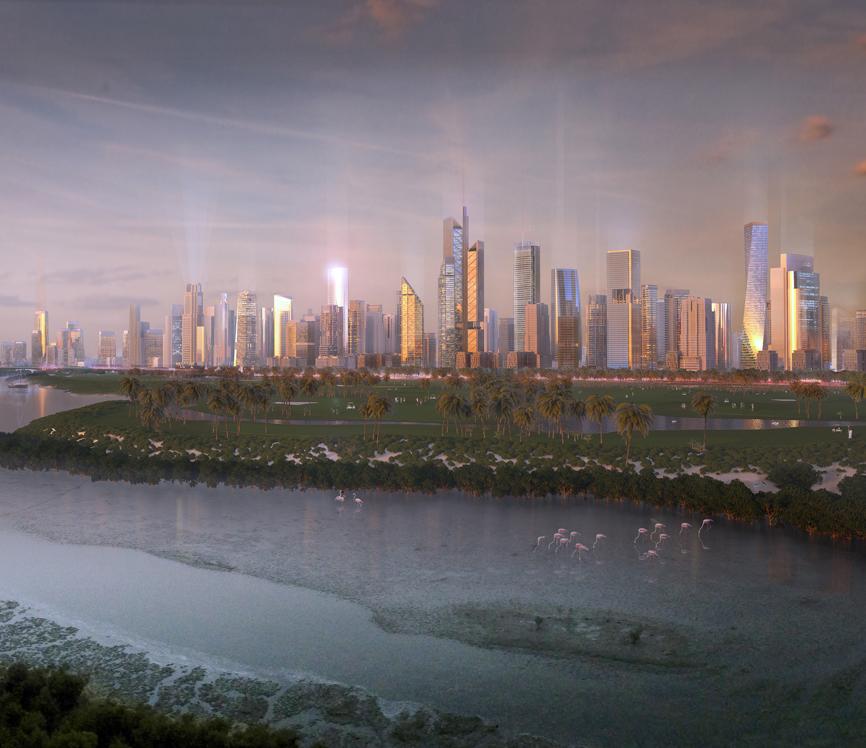 Ajman, Al Zorah High-rise Spine
