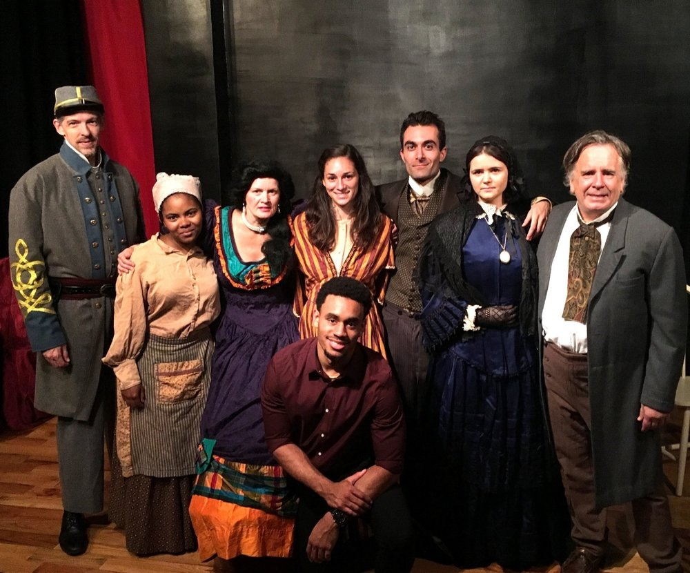 The Cast of The Living Room by Charlie Finesilver - September 2017 at Manhattan Rep -  Geoffrey Grady, Ashley Taylor Greaves, Gerry Glennon, Jahmeel Khan-Poulson, Michelle Morocco, Alan Homeri, Chelsea Clark, and Danny McWilliams!