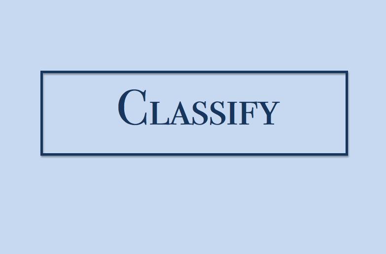 Classify  Professional Organzing