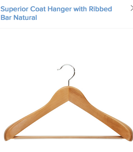 These hangers are perfect for pants and jackets.