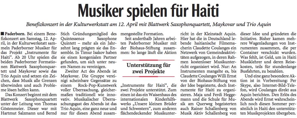 Quelle: Neue Westfälische vom 10.04.2014