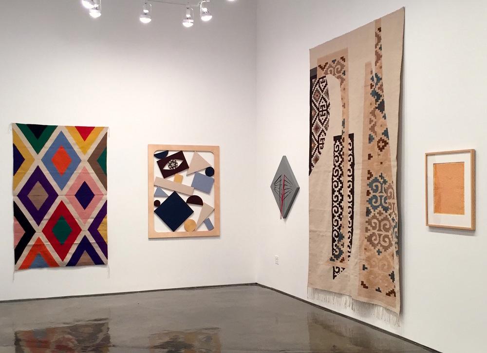Installation view with Stephen Westfall, Chris Bogia, Linda King Ferguson, Emi Winter and Anni Albers.