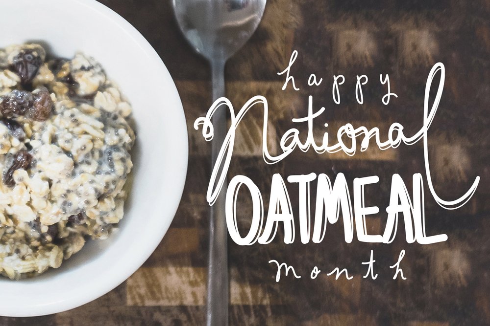 Image result for national oatmeal month