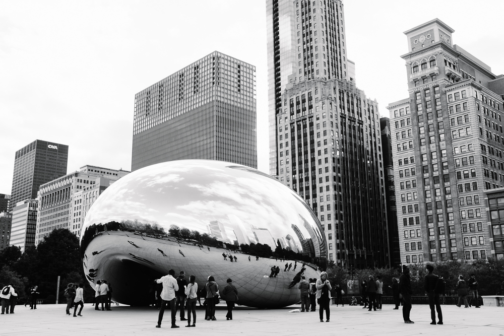 "The famous ""Bean"" in Millennium Park, Cloud Gate, was one of our first stops."