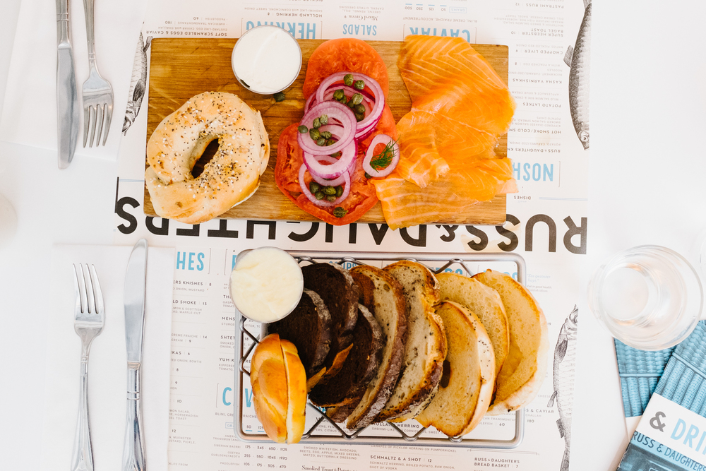 One of our first stops in the city was  Russ & Daughters Cafe  for bagels and lox. It did not disappoint! This was definitely Sojung's favorite place.