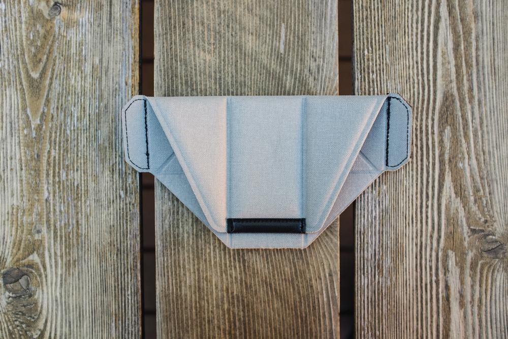 Origami-inspired FlexFold™ - folded in half to fit my Fuji X100s