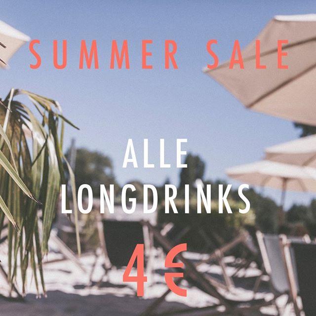 /// SUMMER SALE /// Alle Longdrinks für schlappe 4 €. Cheers. #strandbar #konstanz #bodensee #htwg #unikonstanz #seezeit