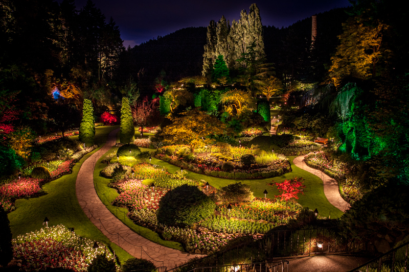 The Butchart Gardens Day And Night Tccreative Photography