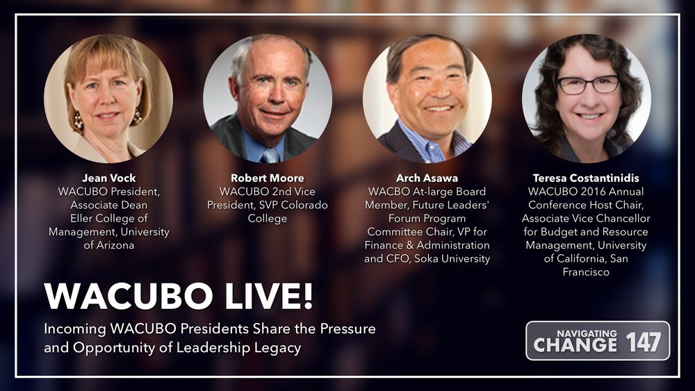 Listen to WACUBO Live on Navigating Change The Education Podcast