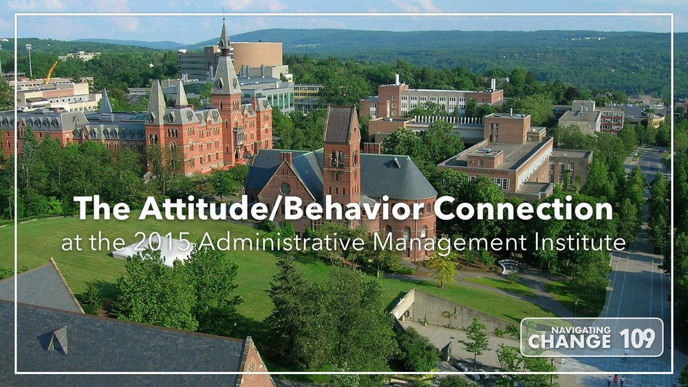 Listen to Attitude Behavior Connection on Navigating Change The Education Podcast
