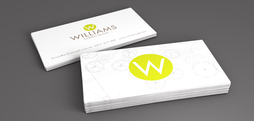 Williams Garden Design   Business Card Final Design CONCEPT, DESIGN And  FINAL ARTWORK:u0026nbsp