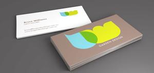 williams garden design business card and logo concept concept design and final artwork