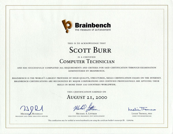 Computer Technician Certification