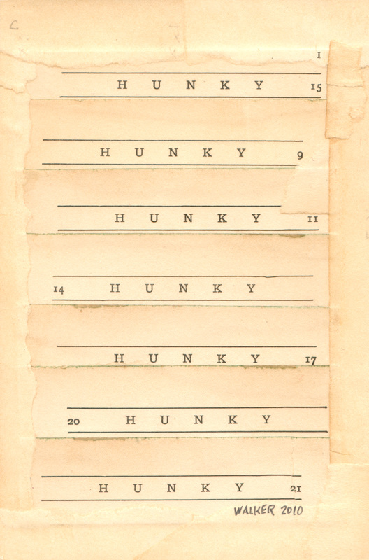 English Lesson No. 2: Hunky