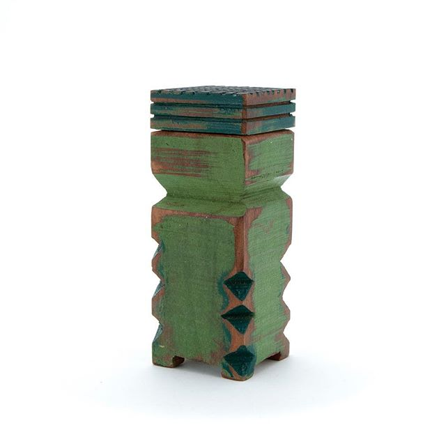 Green Thing - a little box made out of wood.  #brighthouse #wooden box #space #contain #character