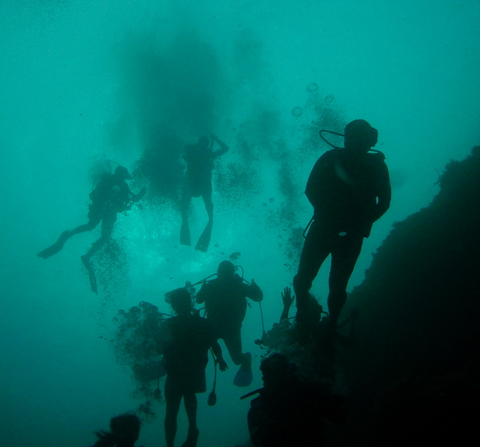 Going Deep The Blue Hole Edge.JPG
