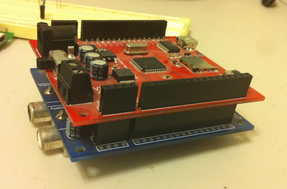 The Propeller Platform installed on the module. Note that I have easy access to the μSD card socket and the female pin headers can still be used for prototyping.