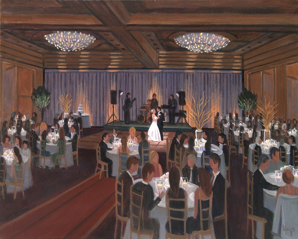 Charleston Place Hotel  |  Live Wedding Painting
