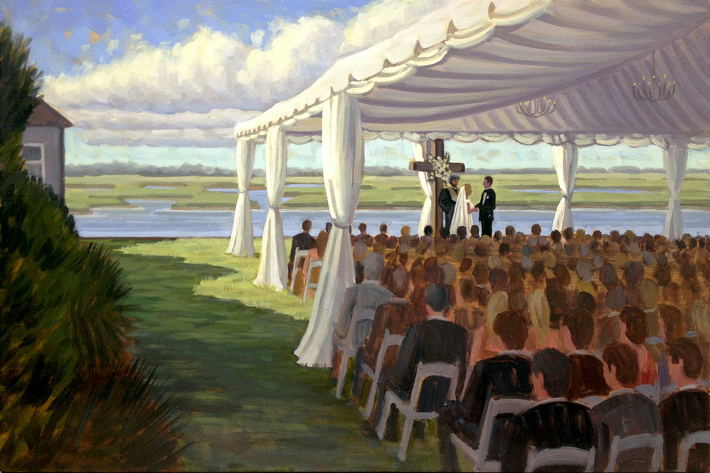 Figure 8 Island Yacht Club  |  Live Wedding Painting