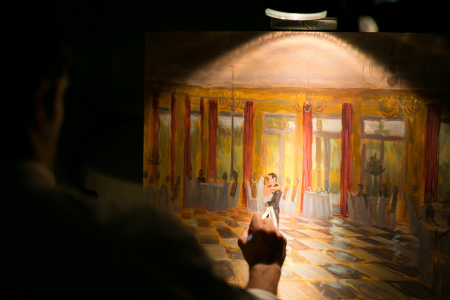 Live Wedding Painting - Ben Keys, Artist  // Wed on Canvas // Photo courtesy of Chris Isham Photography