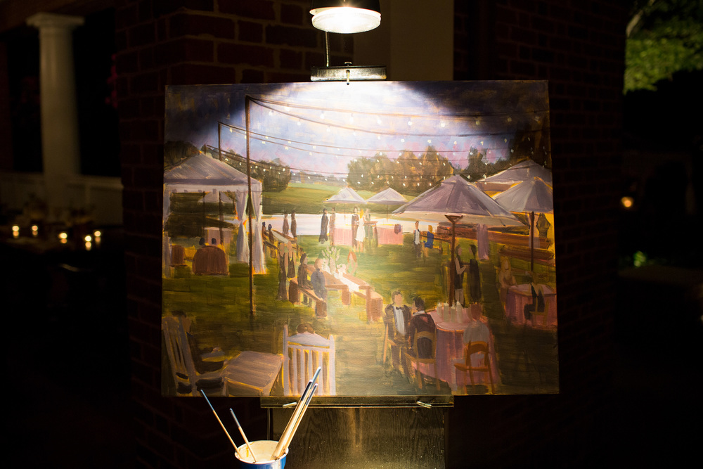 Landfall Country Club // Theo Milo Photography // Wilmington Live Wedding Painting // Coastal Marsh View