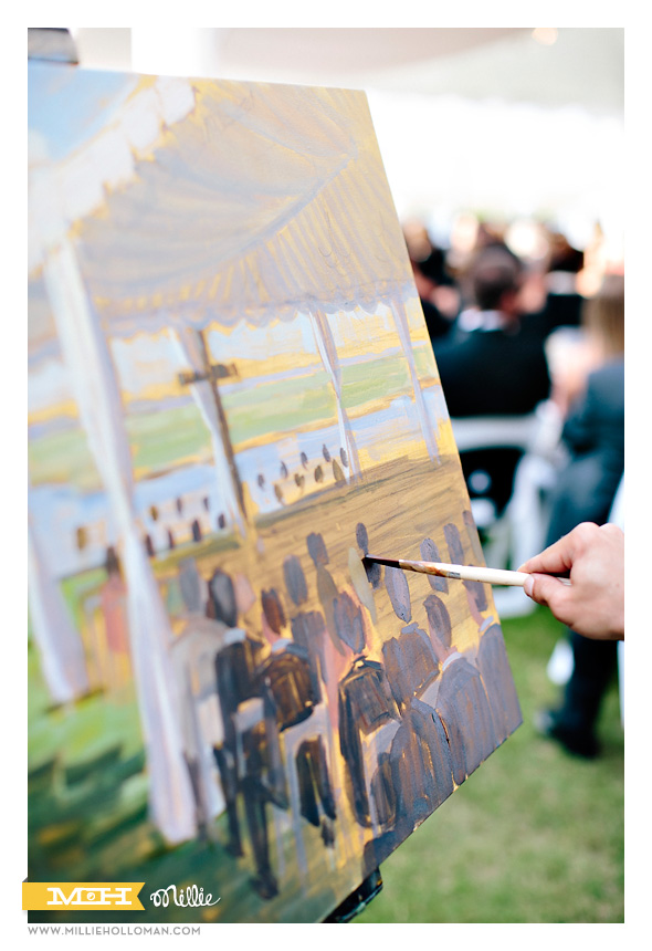 Live Event Artist // Millie Holloman Photography // Figure 8 Island, NC //  Coastal Weddding