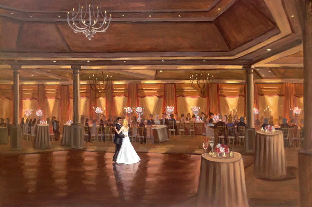Royal Poinciana Golf Club  |  Live Wedding Painting