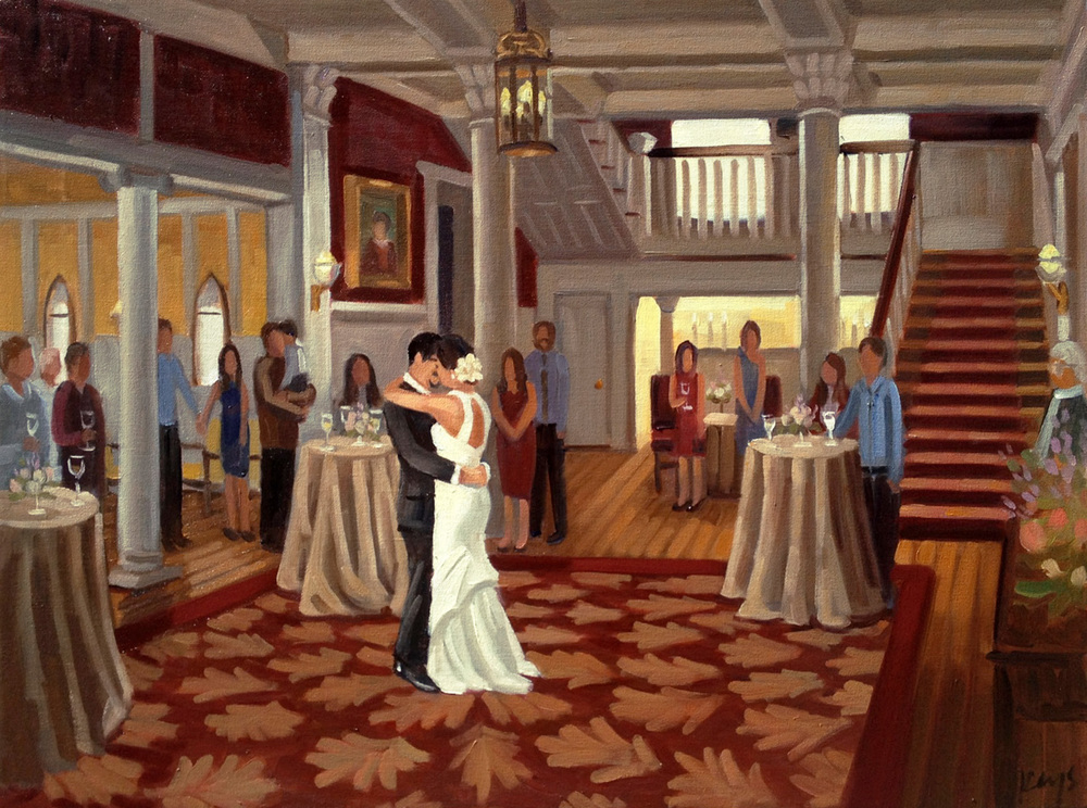 The Graystone Inn Bed and Breakfast | Live Wedding Painting