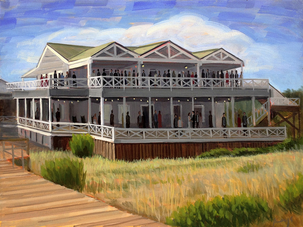 Tina and Alex | 18 x 24 in. Oil on Canvas | Carolina Yacht Club | Wilmington, NC