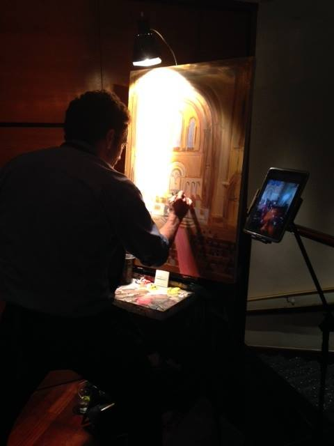 live-wedding-painting-by-event-artist-ben-keys-of-wed-on-canvas-universalist-national-memorial-church-washington-dc