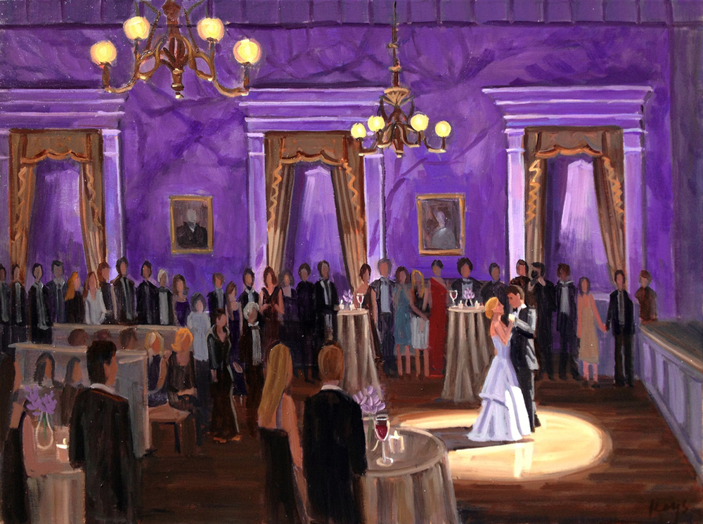 Hibernian Hall | Live Wedding Painting