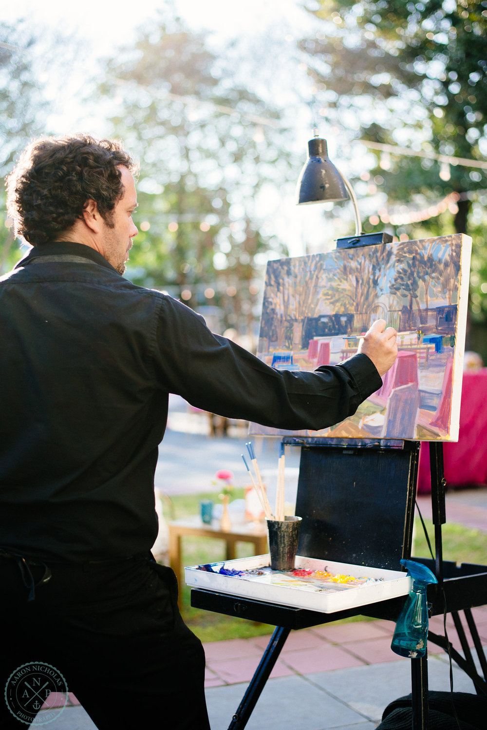 live-artist-the-knot-painting-live-wed-on-canvas-ben-keys-gibbes-museum-charleston-plein-air-painting