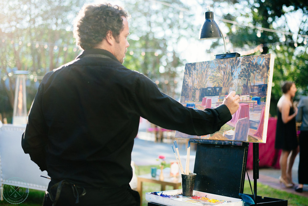 plein-air-painting-wedding-the-gibbes-art-museum-wed-on-canvas-ben-keys-unique-reception-idea