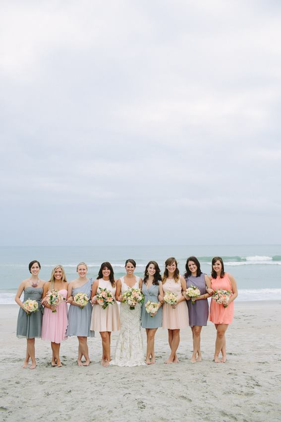 each-bridesmaid-wearing-a-different-color