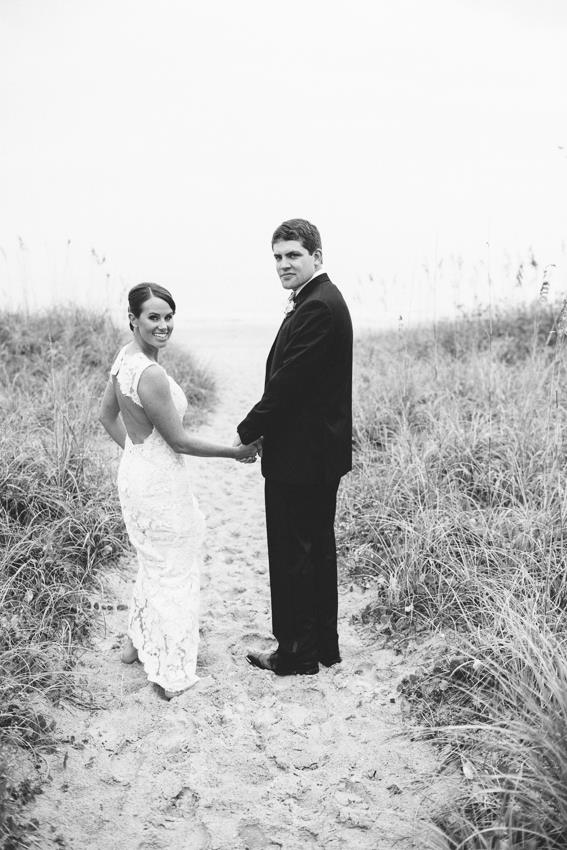 bride-and-groom-on-beach-path-wrightsville-beach