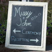 chalk-board-wedding-sign-figure-8-island-wedding-painting